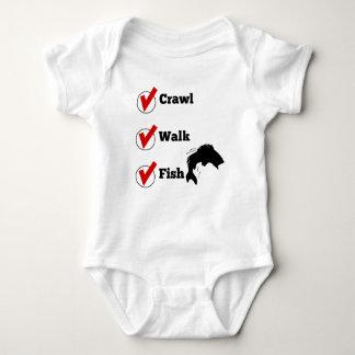 Crawl Walk Fish Baby Bodysuit