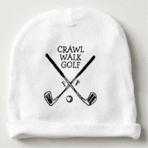 Crawl Walk Golf Golfer Golfing Baby Beanie