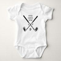 Crawl Walk Golf Golfer Golfing Baby Bodysuit
