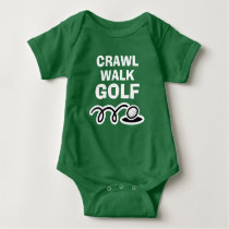 CRAWL WALK GOLF green bodysuit for new baby