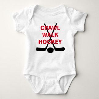 Crawl Walk Hockey Cute Baby Infant Baby Bodysuit