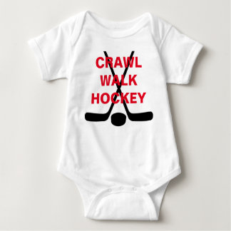 Crawl Walk Hockey Cute Baby Infant Baby Bodysuit