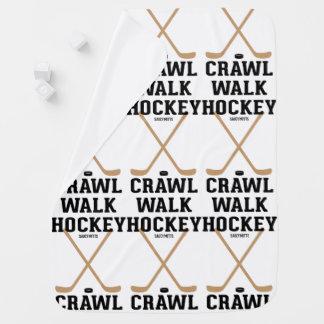 Crawl Walk Hockey Infant Baby Stroller Blanket