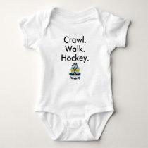 Crawl Walk Hockey Sticks Baby Bodysuit