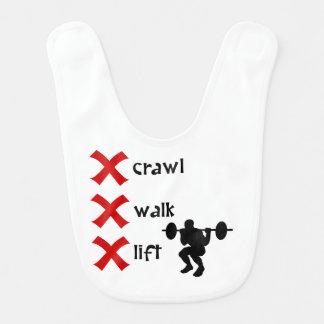 Crawl Walk Lift Baby Bib