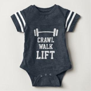 27f976bd0 CRAWL WALK LIFT sport jersey bodysuit for new baby