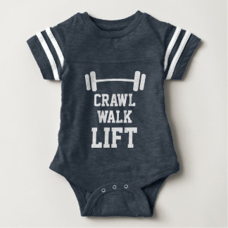 CRAWL WALK LIFT sport jersey bodysuit for new baby