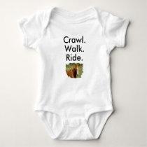 Crawl Walk Ride Horse Baby Bodysuit