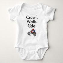 Crawl Walk Ride Motocross Baby Bodysuit