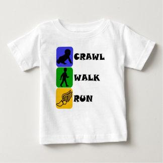 Crawl Walk Run Baby T-Shirt