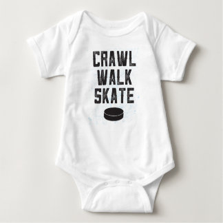 CRAWL WALK SKATE ice hockey baby bodysuit gift