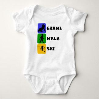 Crawl Walk Ski Baby Bodysuit
