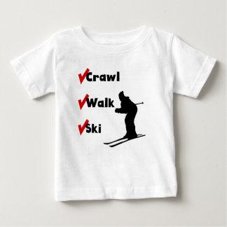 Crawl Walk Ski Baby T-Shirt