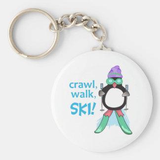 Crawl, Walk, Ski! Key Chains