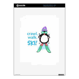 Crawl, Walk, Ski! iPad 2 Skins
