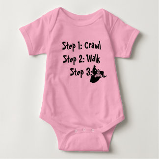 """""""Crawl Walk Sled"""" Sledders.com Pink Baby Creeper"""