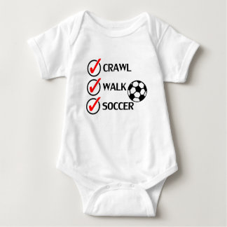 Crawl Walk Soccer Baby Bodysuit