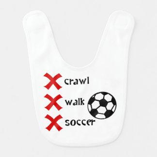 Crawl Walk Soccer Bib