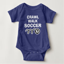 CRAWL WALK SOCCER sports bodysuit for new baby