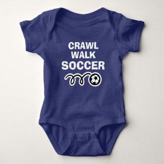 CRAWL WALK SOCCER sports bodysuit for new baby