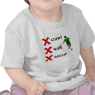 Crawl Walk Soccer T-shirts