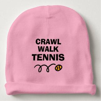 CRAWL WALK TENNIS ball baby beanie hat
