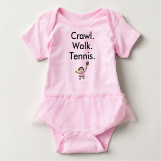 Crawl Walk Tennis Girl Baby Bodysuit
