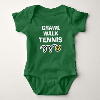 CRAWL WALK TENNIS sports bodysuit for new baby