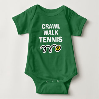 CRAWL WALK TENNIS sports bodysuit for new baby