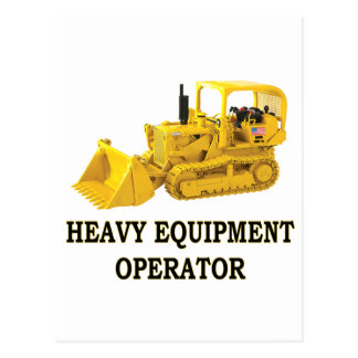 CRAWLER LOADER POSTCARD
