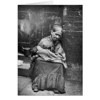 Crawlers Street Life London - Vintage Photo 1877 Card