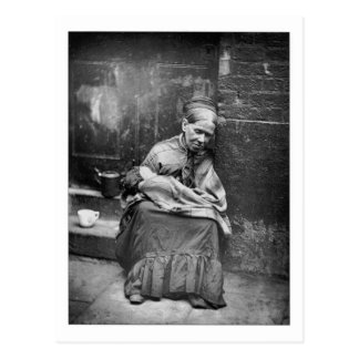 Crawlers Street Life London - Vintage Photo 1877 Postcard