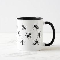 Crawling Big Black Ants Swarm Funny Novelty Mug