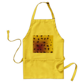 Crawling black spiders aprons