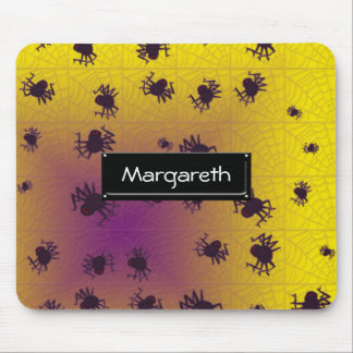 Crawling black spiders mousepads