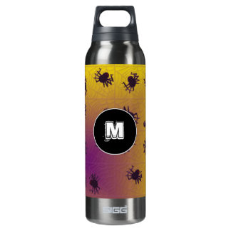 Crawling black spiders 16 oz insulated SIGG thermos water bottle