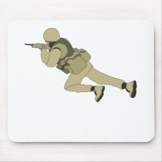 Crawling Soildier Mouse Pad