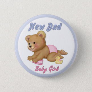 Crawling Teddy - New Dad of Girl - Customize Button