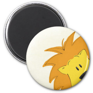 Crawling Through the Jungle: Lally the Lion 2 Inch Round Magnet