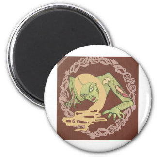 Crawling Zombie Girl 2 Inch Round Magnet