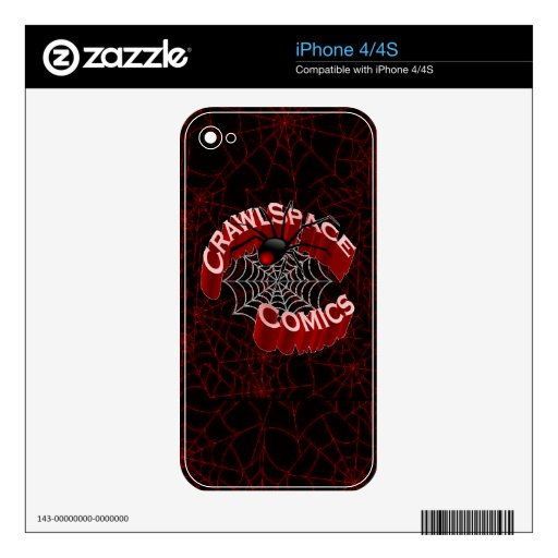 CrawlSpace Comics iPhone Skin Decal For The iPhone 4S