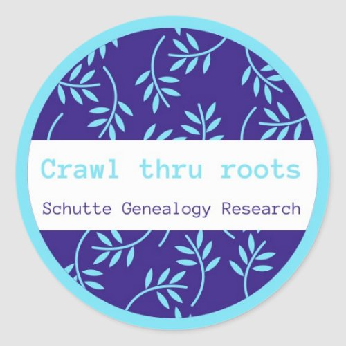 Crawlthrurootscom logo round stickers