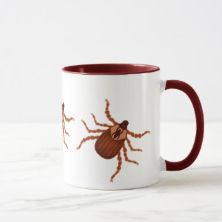 Crawly Realistic Tick Illustration Mug