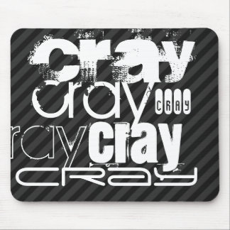 Cray; Black & Dark Gray Stripes Mouse Pad