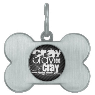 Cray; Black & Dark Gray Stripes Pet ID Tag