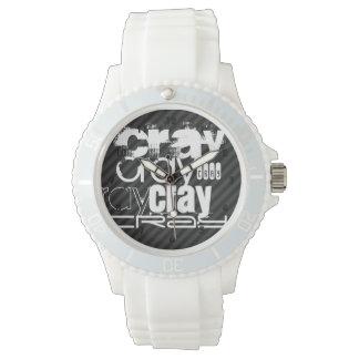 Cray; Black & Dark Gray Stripes Wrist Watches