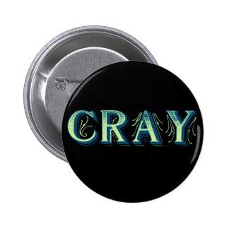 Cray 2 Inch Round Button