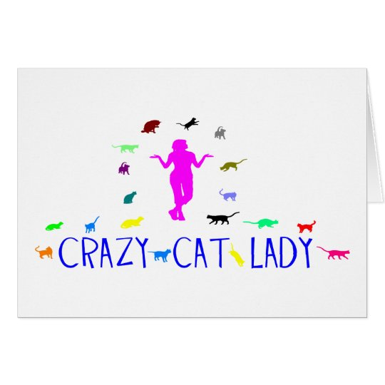 CRAY CAT LADY CARD