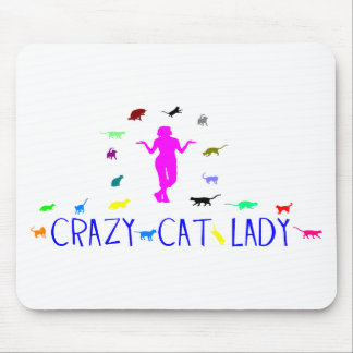 CRAY CAT LADY MOUSE PAD