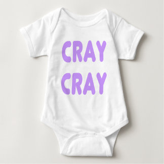 Cray Cray Internet Memes Light Purple Baby Bodysuit